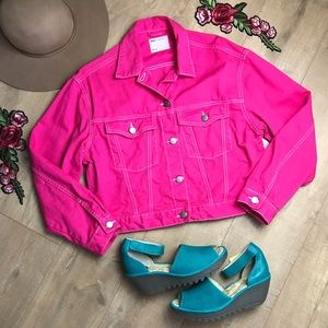 ASOS Jackets & Coats - ASOS Pink Denim Jacket C0158